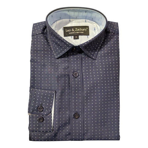 Leo & Zachary Boys Slim Shirt 181 5644 Dress Shirts Leo & Zachary