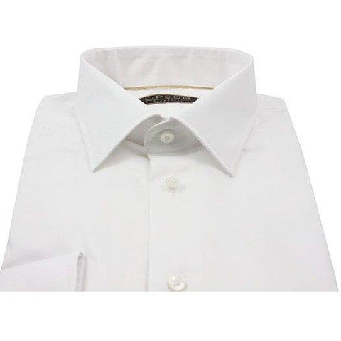 Lipson Mens Shirt Contemporary Fit solid 8939-67797000, Wht, 15 Shirts - Fancy Lipson