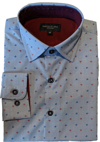Marcelo D'Liola Boys Slim Shirt 5658 Dress Shirts Marcelo D'Liola