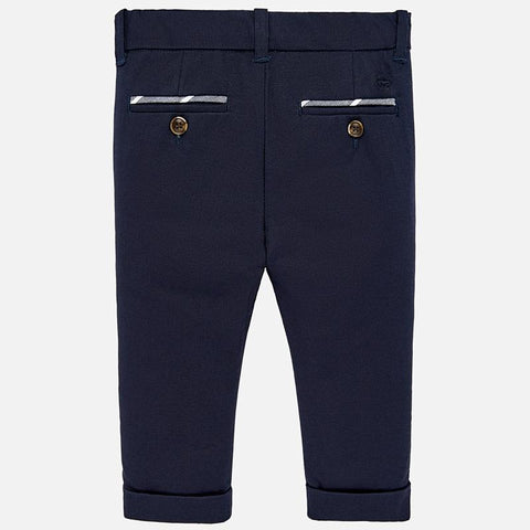 Mayoral Baby Dressy Blue or Navy Linen Pants 1522-Mayoral-NorthBoys