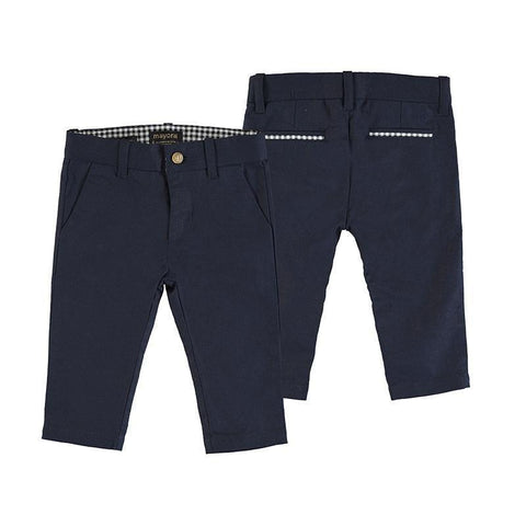 Mayoral Baby Dressy Linen Pants Cotton Pants Mayoral 6 mo Navy