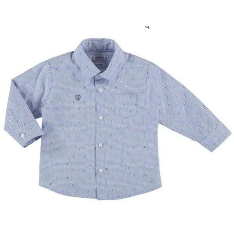 Mayoral Baby Long Sleeve Dress Shirt-Mayoral-NorthBoys