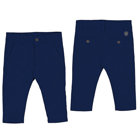 Mayoral Baby Navy Cotton Pants-Mayoral-NorthBoys