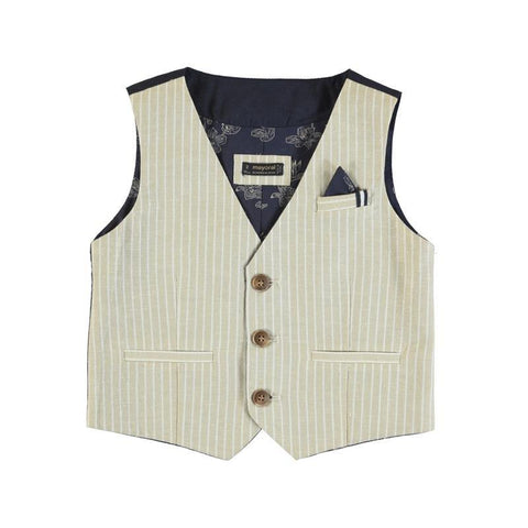 Mayoral Mini Boys Tailored Linen Vest-Mayoral-NorthBoys