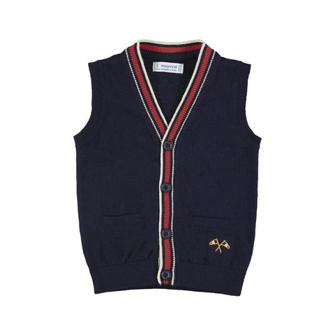 Mayoral Mini Knitted Navy Vest 4.320-Mayoral-NorthBoys