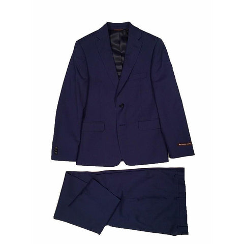 Michael Kors Boys Husky Dark Blue Wool Suit ZH013 Suits (Boys) Michael Kors