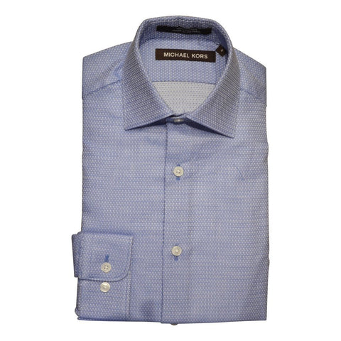 Michael Kors Boys Shirt Fancy 172 YZ0160 Dress Shirts Michael Kors Blue 8R