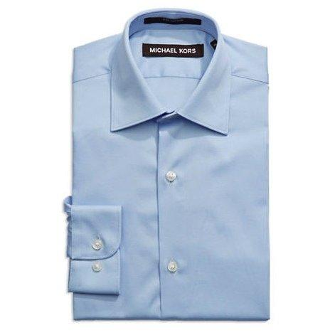 Michael Kors Boys Shirt Junior ZJ001 Dress Shirts Michael Kors Light Blue 5