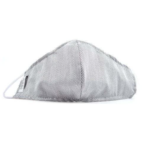 Non-Medical Face Mask Grey/White Chevron Face Mask NorthBoys