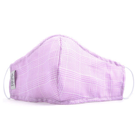 Non-Medical Face Mask Purple/White Houndstooth Face Mask NorthBoys