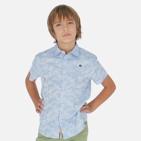 Nukutavake Boys s/s Camouflage Dress Shirt Dress Shirts Mayoral