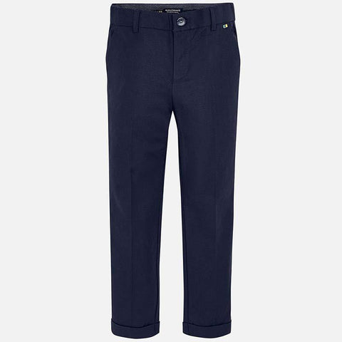 Nukutavake Dressy Navy Cotton/Linen Pants 6509 Cotton Pants Mayoral