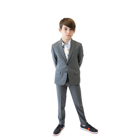 Paul Smith Jr Perfect Grey Wool Suit 5K39512-83 Suits (Boys) Paul Smith Jr