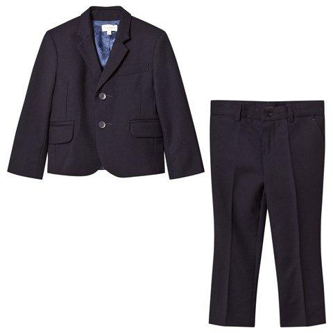 Paul Smith Jr Perfect Navy Wool Suit 172 5K39512-492 Suits (Boys) Paul Smith Jr Navy 16S
