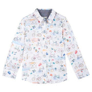 Paul Smith Jr Shirt l/s 172 5K12542 Dress Shirts Paul Smith Jr White 14R