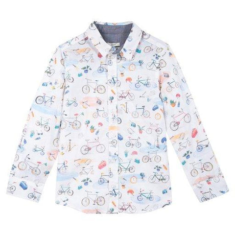 Paul Smith Jr Shirt l/s 172 5K12542 Dress Shirts Paul Smith Jr White 8R
