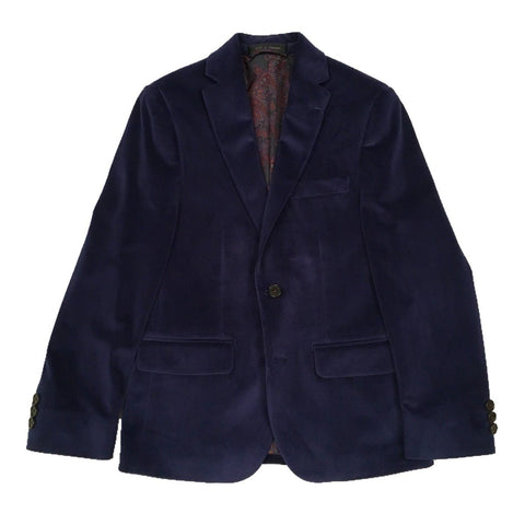 Ralph Lauren Boys Blue Velvet Sports Jacket 192 MA0041 Sports Jackets Lauren Ralph Lauren