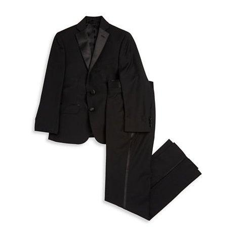 Ralph Lauren Boys Tuxedo Husky 161 AH000 Suits (Boys) Ralph Lauren Black 18H