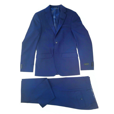 Sean John Mens Ultra-Slim Plain Bright Royal Blue Suit Suits (Men) Sean John