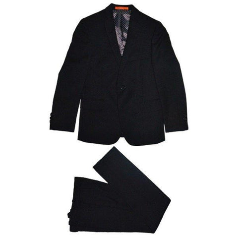 Tallia Boys Husky Black Wool Suit DZH001 Suits (Boys) Tallia Black 20H