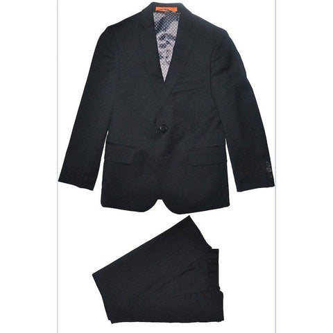 Tallia Boys Skinny Black Wool Suit Y0257 Suits (Boys) Tallia Black 10S