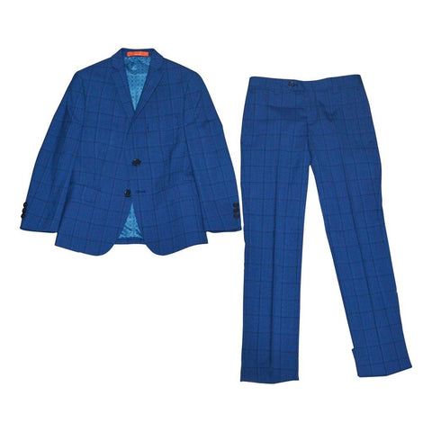 Tallia Boys Skinny Blue Wool Suit Y0463 Suits (Boys) Tallia