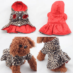 Leopard Pattern Tutu Coat Dog Dress