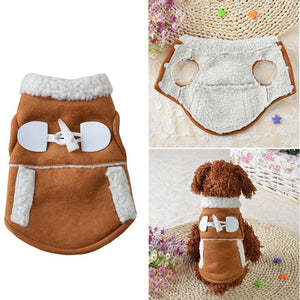 Apparel Puppy Warm Vest Costume Clothing - Dog Market Hub