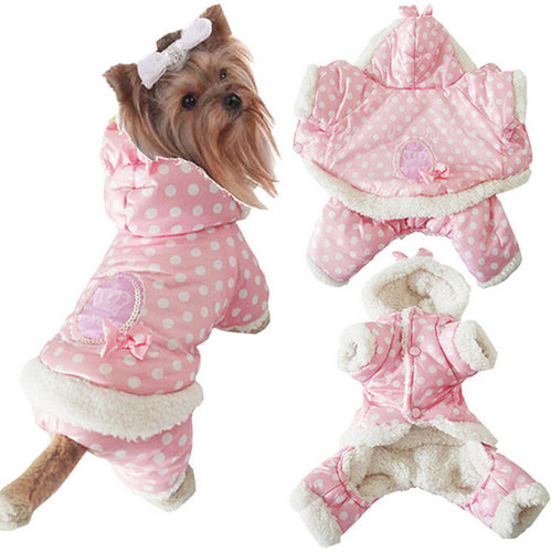 Warm Soft Short Floss Dog Clothes