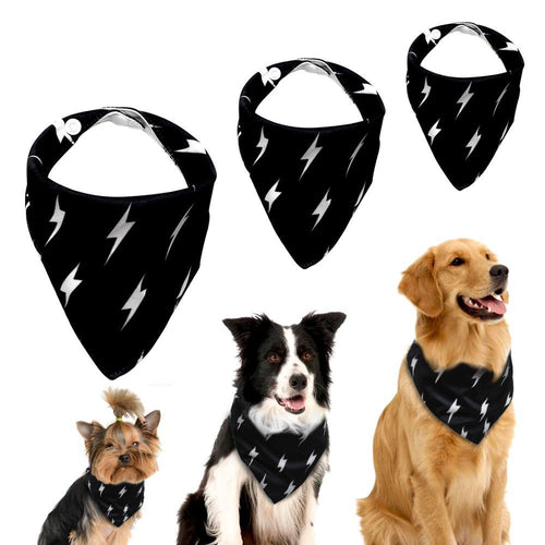 Adjustable Dog Bandana Black Pet Bib
