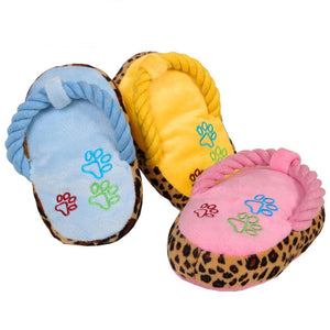 Chew Play Cute Plush Slipper Shape Squeaky Supplies - Dog Market Hub