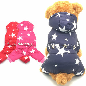 Dogs Pets Jacket Teddy Chihuahua More Stars Clothing - Dog Market Hub