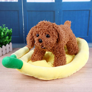 S/M/L Warm Soft Banana Shape Dog House Sleeping Bed - Dog Market Hub