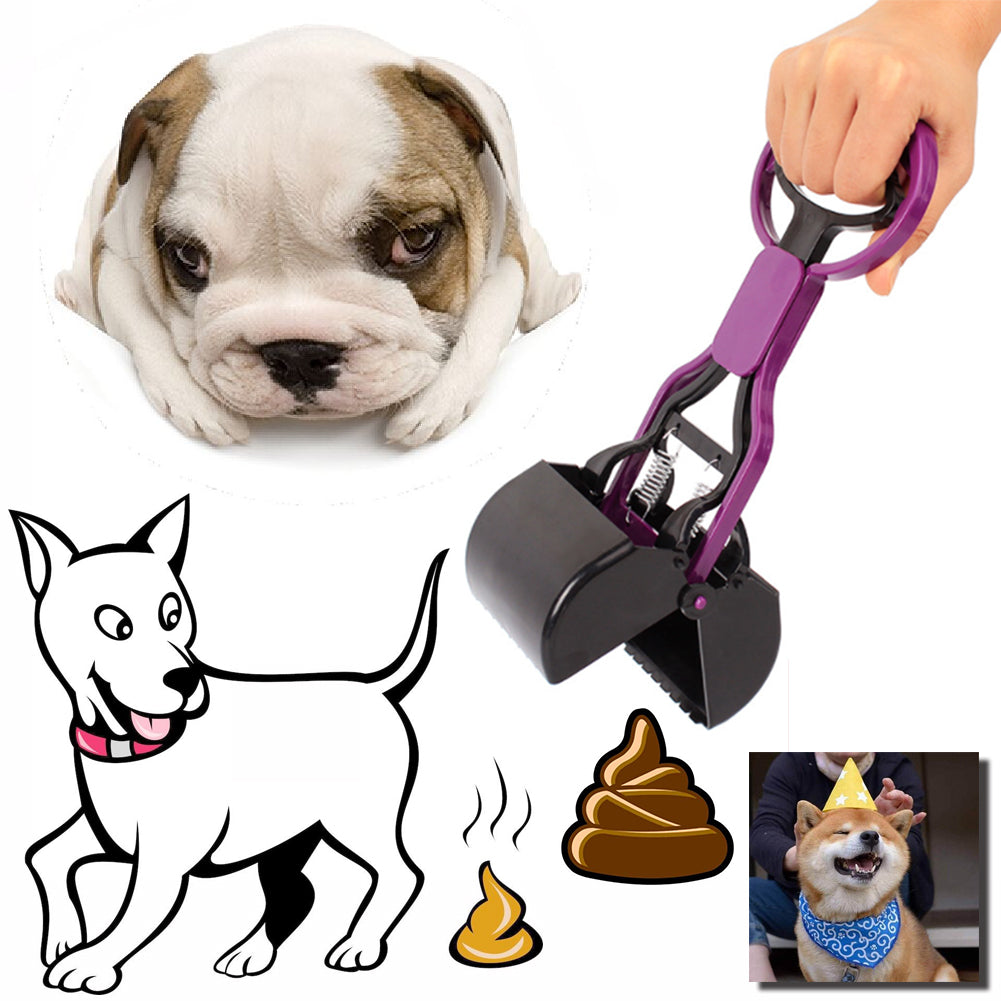 Pet Dog Poop Scoop Long Handle Jaw Cleaner - Dog Market Hub