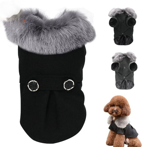 Winter Dog Clothes Hooded Sweater