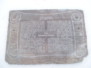 Bluestone Slates with Laser Written Ten Commandments
