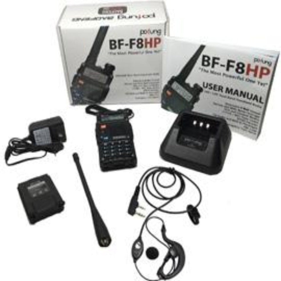 BaoFeng BF-F8HP Dual Band (VHF/UHF) Analog Portable Two-Way Radio Programmed for your Locale