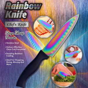 Stainless Steel Rainbow Steak Knife
