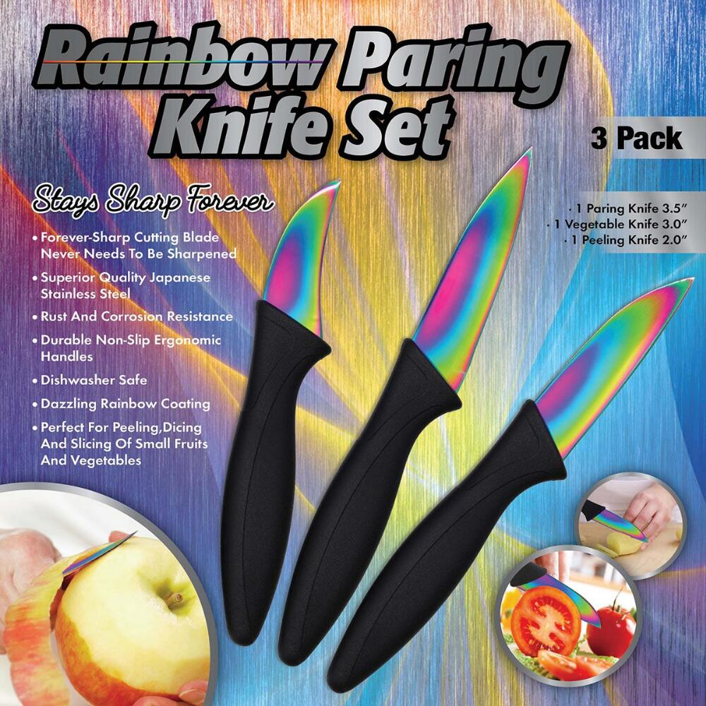 Rainbow Stainless Steel Paring Knife Set