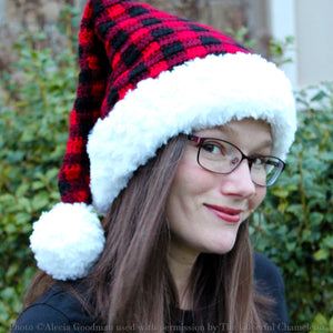New Crochet Pattern Release! Holiday Plaid Santa Hat