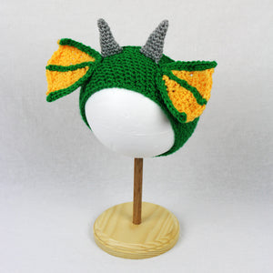 Draco the Dragon Ear Warmer Headband Crochet Pattern
