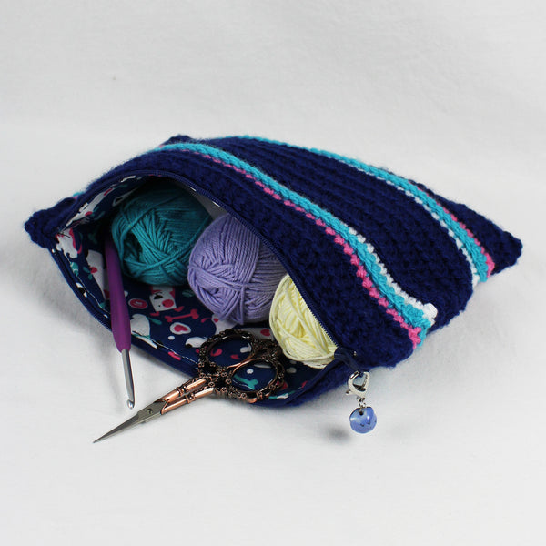 Mini Zippered Project Bag Free Crochet Pattern