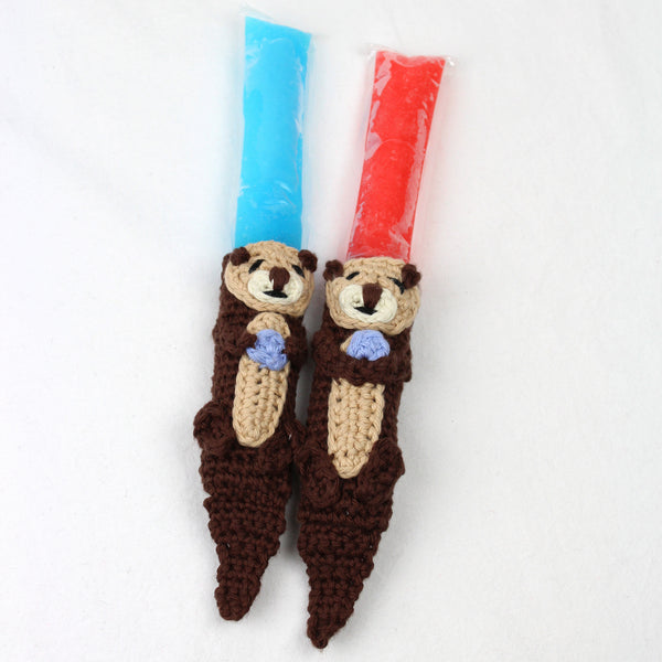 Otis the Otter Freezer Pop Cozy Crochet Pattern