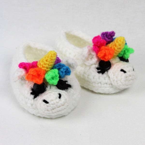Sugar the Unicorn & Spice the Horse Child Size Slipper Crochet Pattern