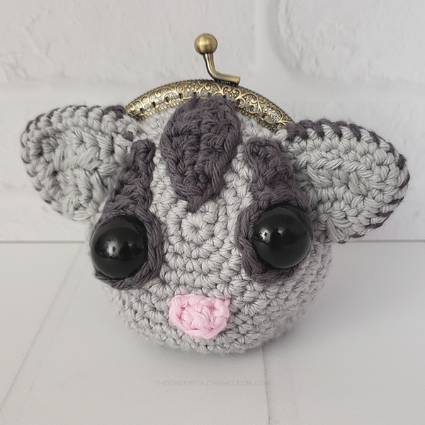 Sassy the Sugar Glider Coin Purse Crochet Pattern