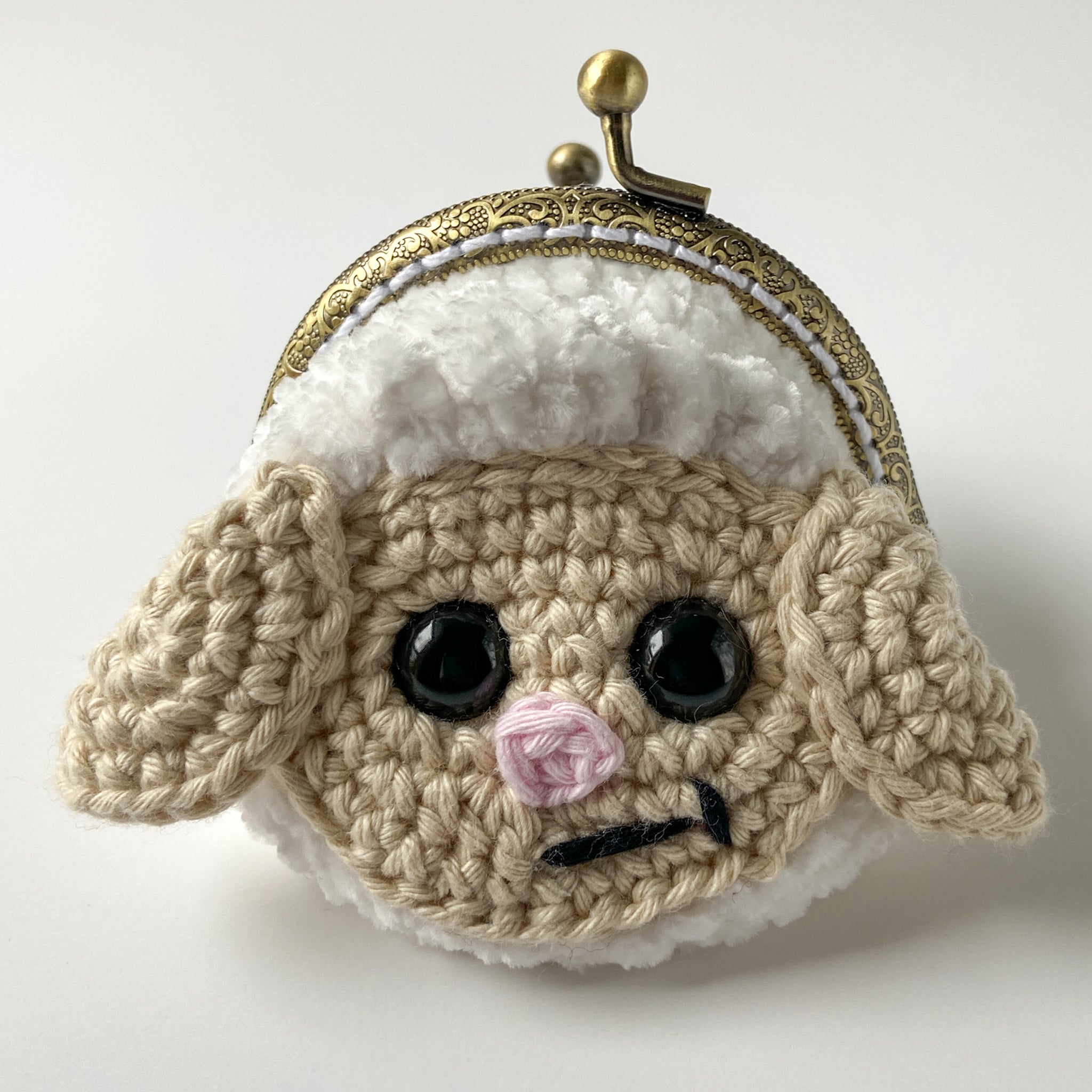 Lucy the Lamb Coin Purse Crochet Pattern