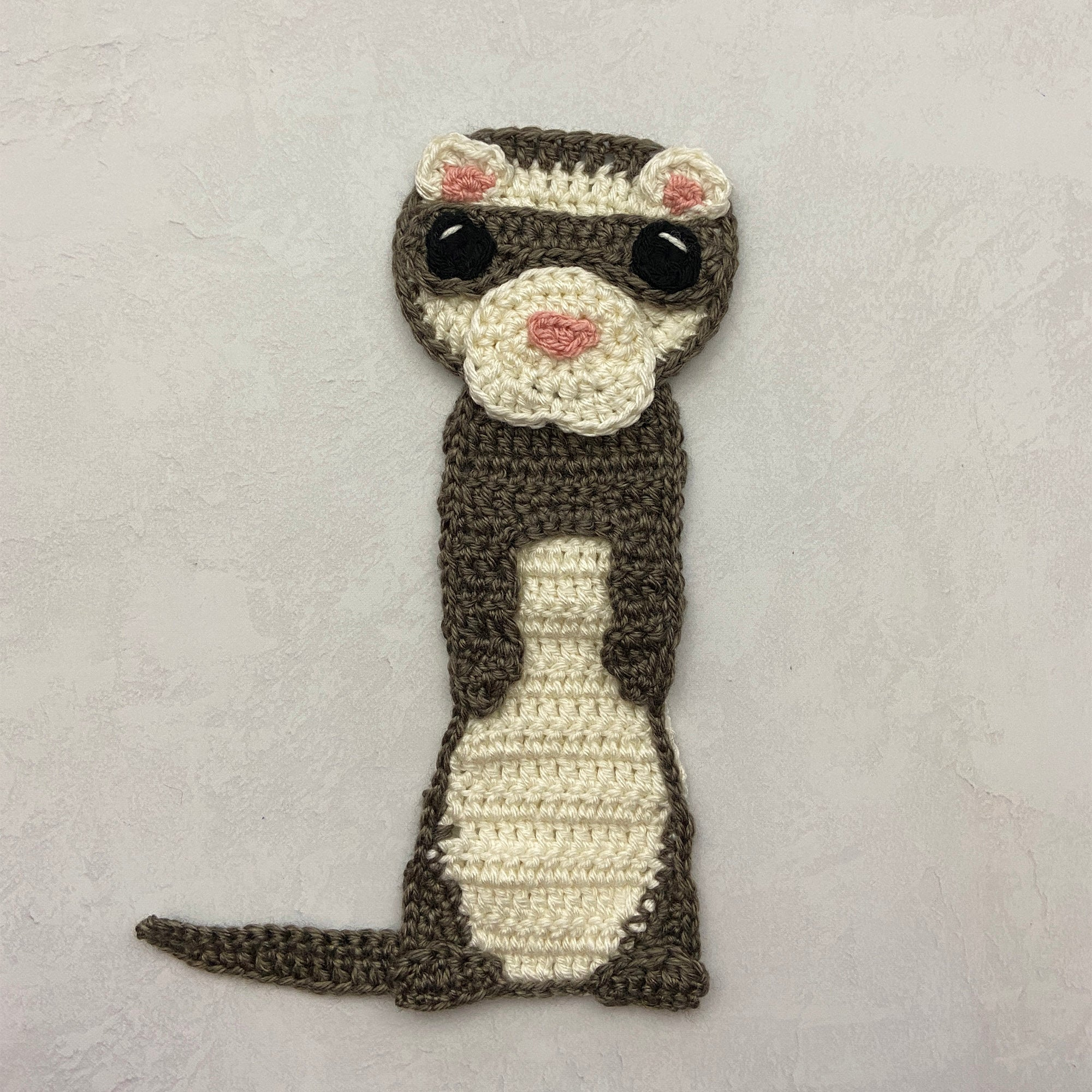 Fidget the Ferret Applique - Free Crochet Pattern