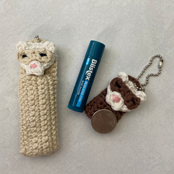 Fidget the Ferret Keeper Keychain Crochet Pattern