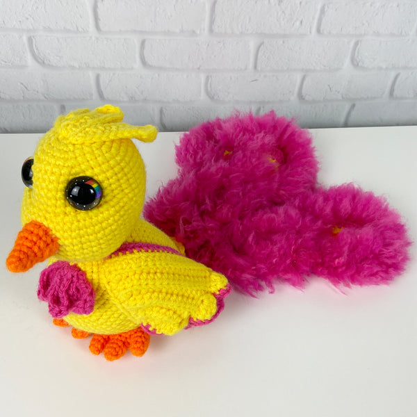 Ashley the Phoenix Amigurumi (bright)