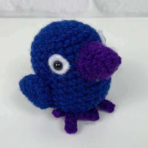 Palm sized Raven Amigurumi